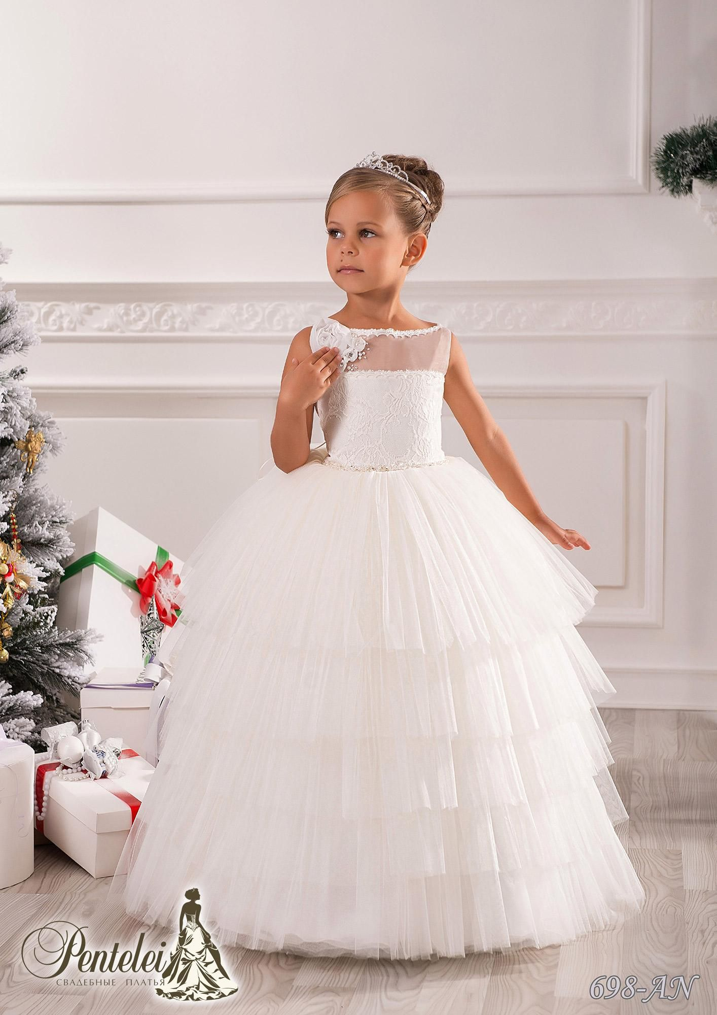 Beautiful flower girls dresses for weddings bateau collar beads beautiful flower girls dresses for weddings bateau collar beads sash tiered lace and tulle kids formal wear with floor length ombrellifo Images