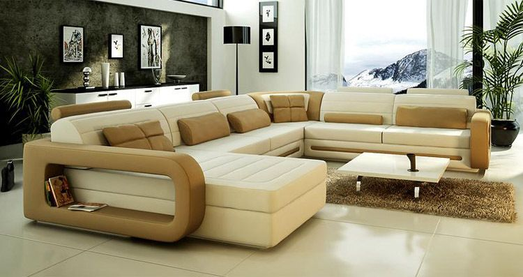 Exceptionnel Rounded Sofa Interior With Off White Color So Elegant Performance | House Living  Room Ideas | Pinterest | White Leather Seu2026