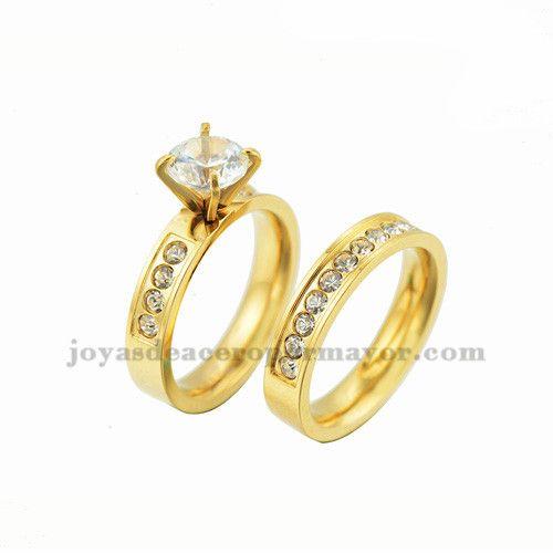 anillos de compromiso en venta de joyas de oro dorado