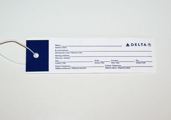 baggage tags delta - Google Search