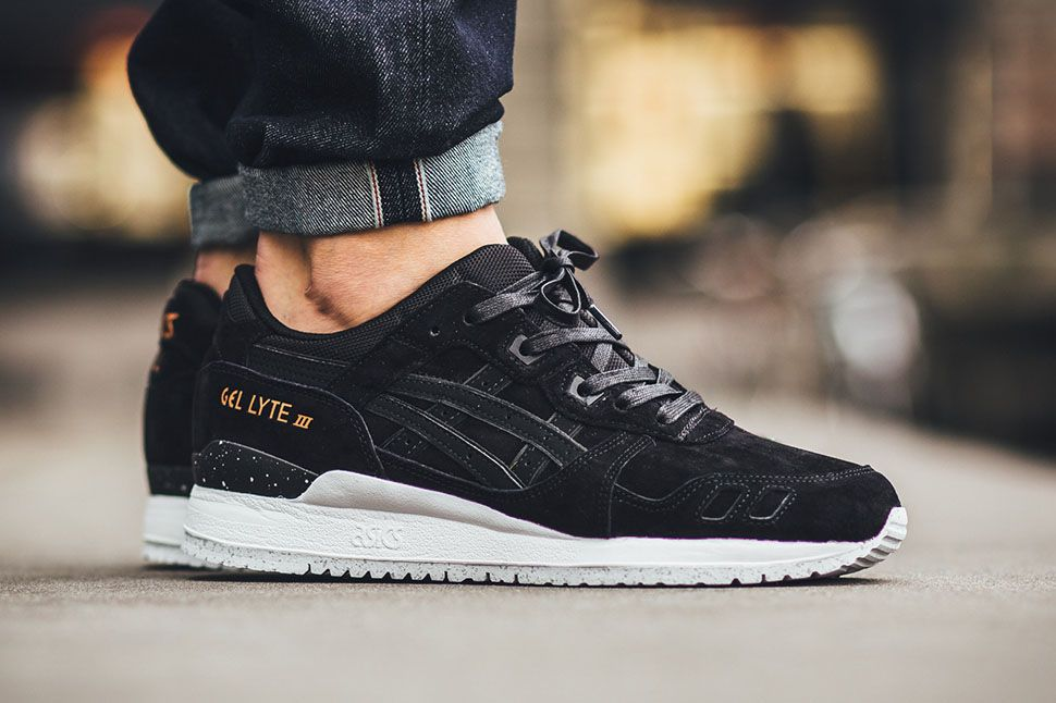 asics black leather womens shoes