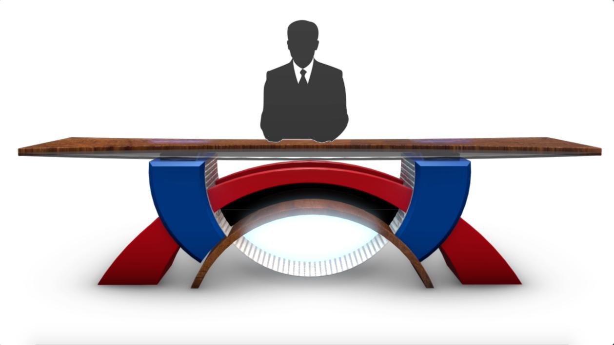 Tv Studio News Desks After Effect Element 3d 3ds Max C4d Obj Studio Tv Decor Studio Desk