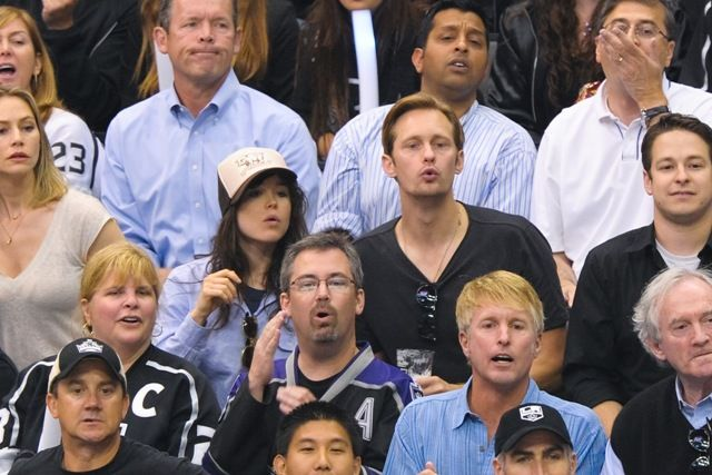 Ellen Page and Alexander Skarsgard   also does that women look a lot like andy from dawson's creek or is that just me?