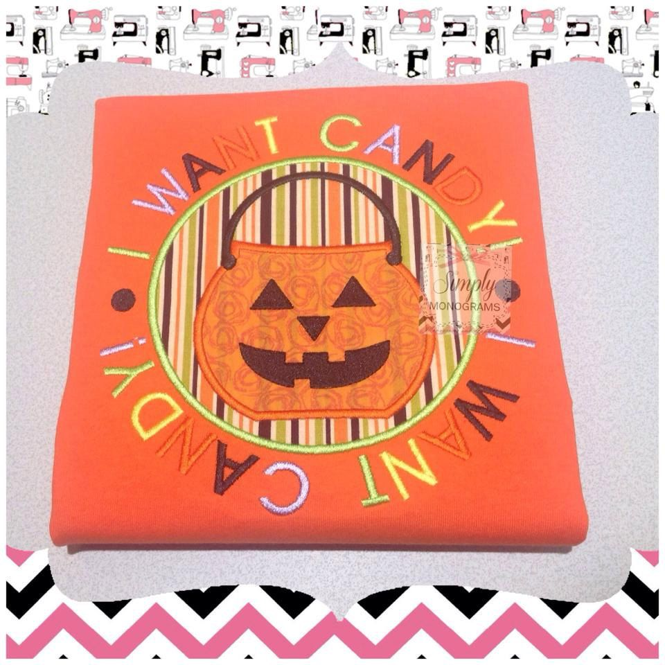 Halloween candy shirt, applique shirt, boys shirt, girls shirt by SimplyMonogramsTwo on Etsy