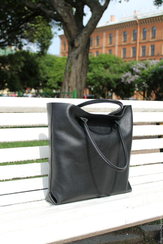 1dcab188de3d Купить кожаная женская сумка черная большая сумка - черный, сумка ...