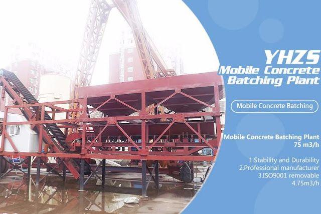 Zhengzhou Jianxin Machinery Co., Ltd: YHZS35 Mobile Concrete Batching Plant with 35cbcmP...