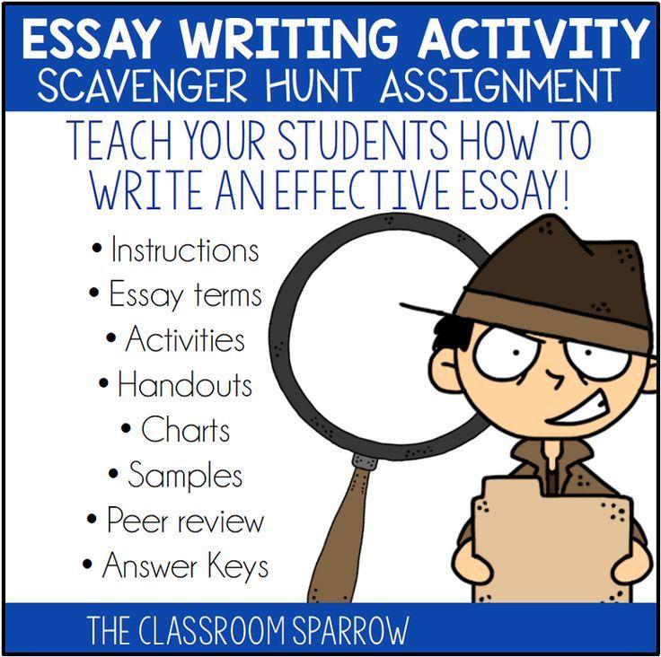 how to write a 4 paragraph essay hunt
