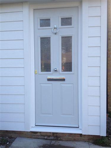 Grey Composite Door Custom Ral Grey Composite Door With Pilkington Oriel Canterbury Glass And