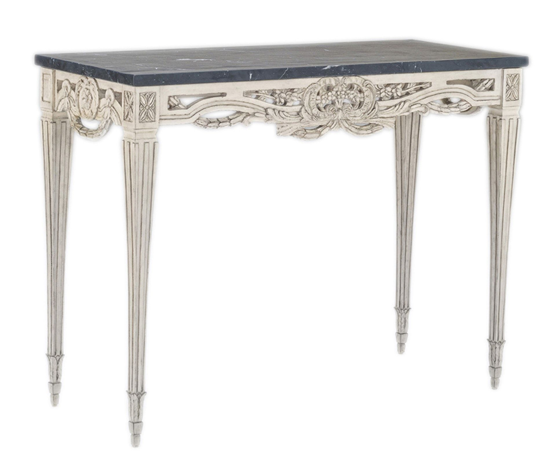 Swedish pierced rim marble top console table sc011 traditional buy swedish pierced rim marble top console table sc011 by swede collection quick ship designer geotapseo Image collections