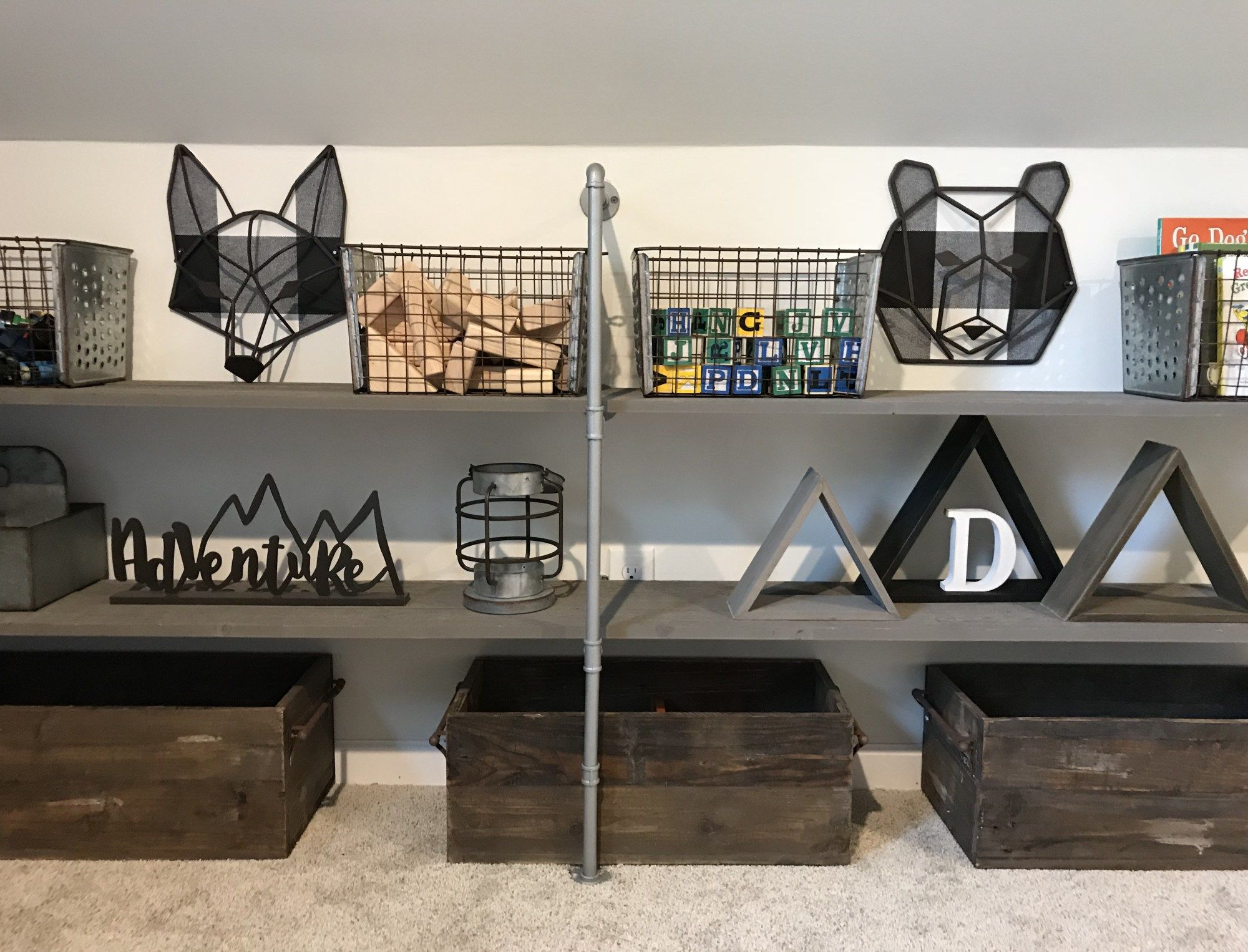 How To Make Cheap And Easy Pipe Shelves - Bless