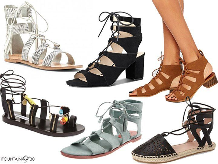 Lace-Up Sandals For Under $100
