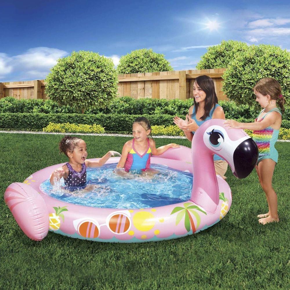 Inflatable Swimming Pool Flamingo Splash Kiddie Toddler Pools