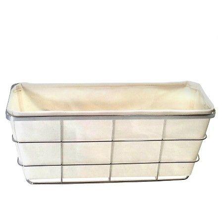 Bath Basket With Linen Insert Chrome Threshold Target Toilet Tank