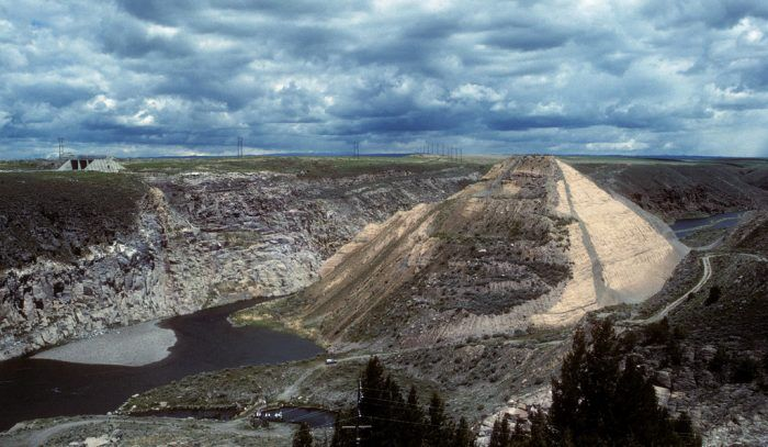 The Teton Dam site as it looks today  No attempts have been