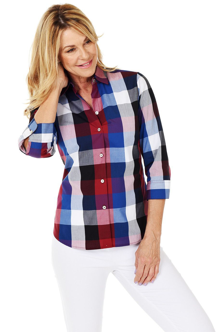 Flannel shirt knot  Buffalo Check ButtonDown Shirt  Products  Pinterest  Products