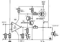 Mosfet power amplifier circuit with power output 100W RMS
