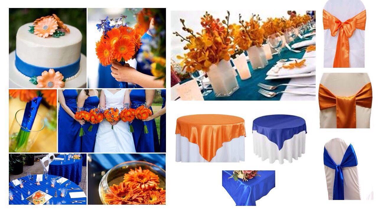 Blue Orange Blue Fall Wedding Orange Wedding Themes Orange