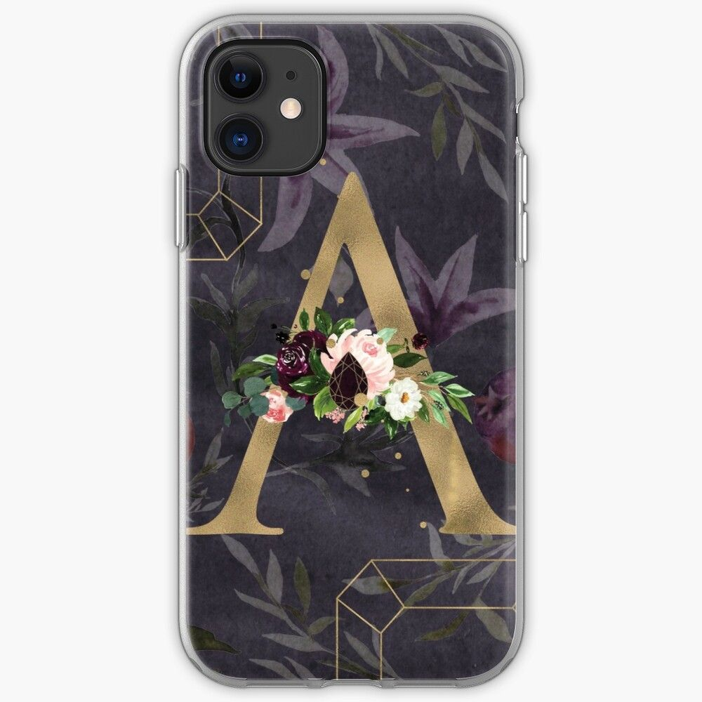 Monogram letter a iphone case by themagickgarden in 2020
