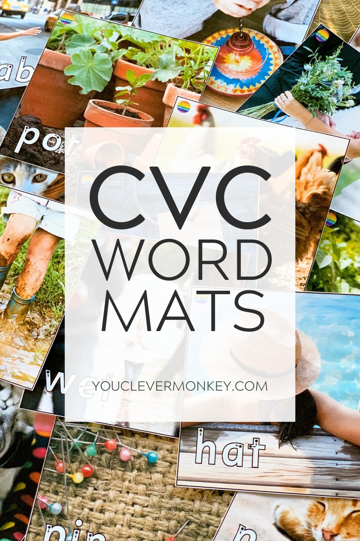 CVC Word Mats in 2020 Cvc words, Consonant words