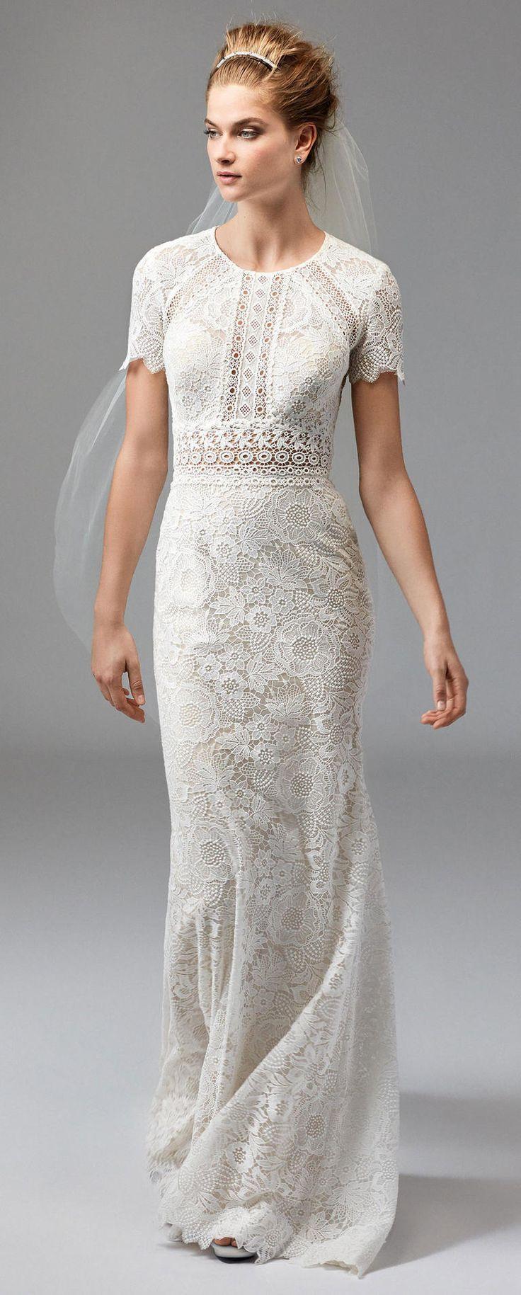 Short wedding dresses for older brides  Beautiful Boho Dresses From Bridal Fashion Week  TheKnot
