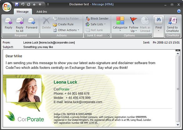 11 outlook email signature templates samples examples for How to create an email template in outlook 2010