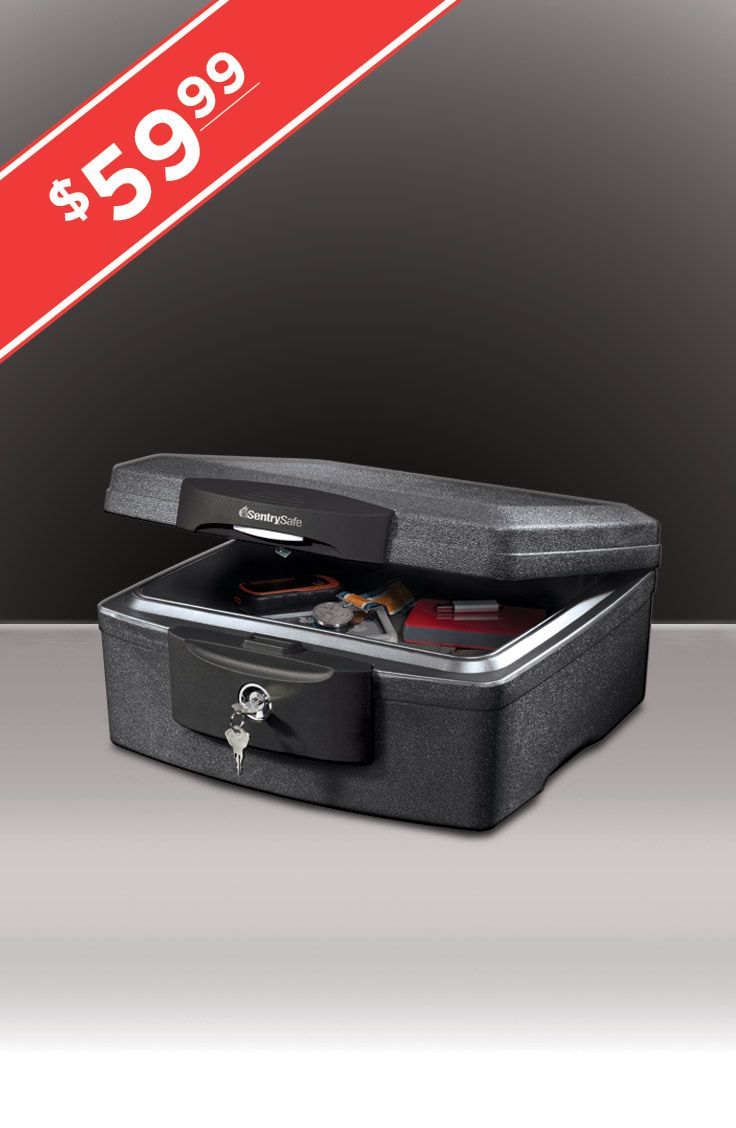 Powerful protection at the perfect size!  This chest provides reliable protection from fire and flood for USB drives, photos, birth certificates passports and more.  And with a key lock, you can be sure what's important to you remains private too!