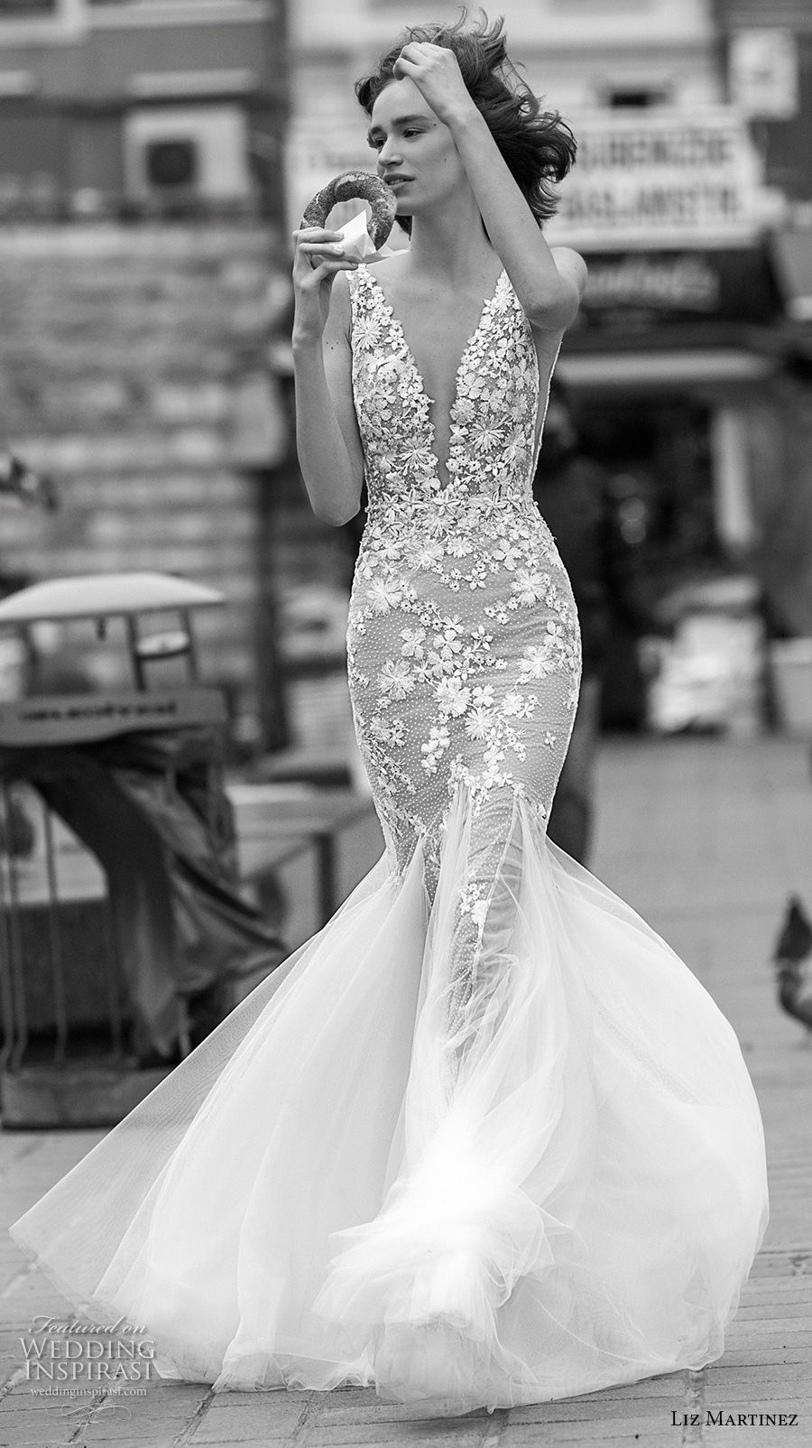 White mermaid wedding dress  Liz Martinez  Wedding Dresses u ucIstanbulud Bridal Collection