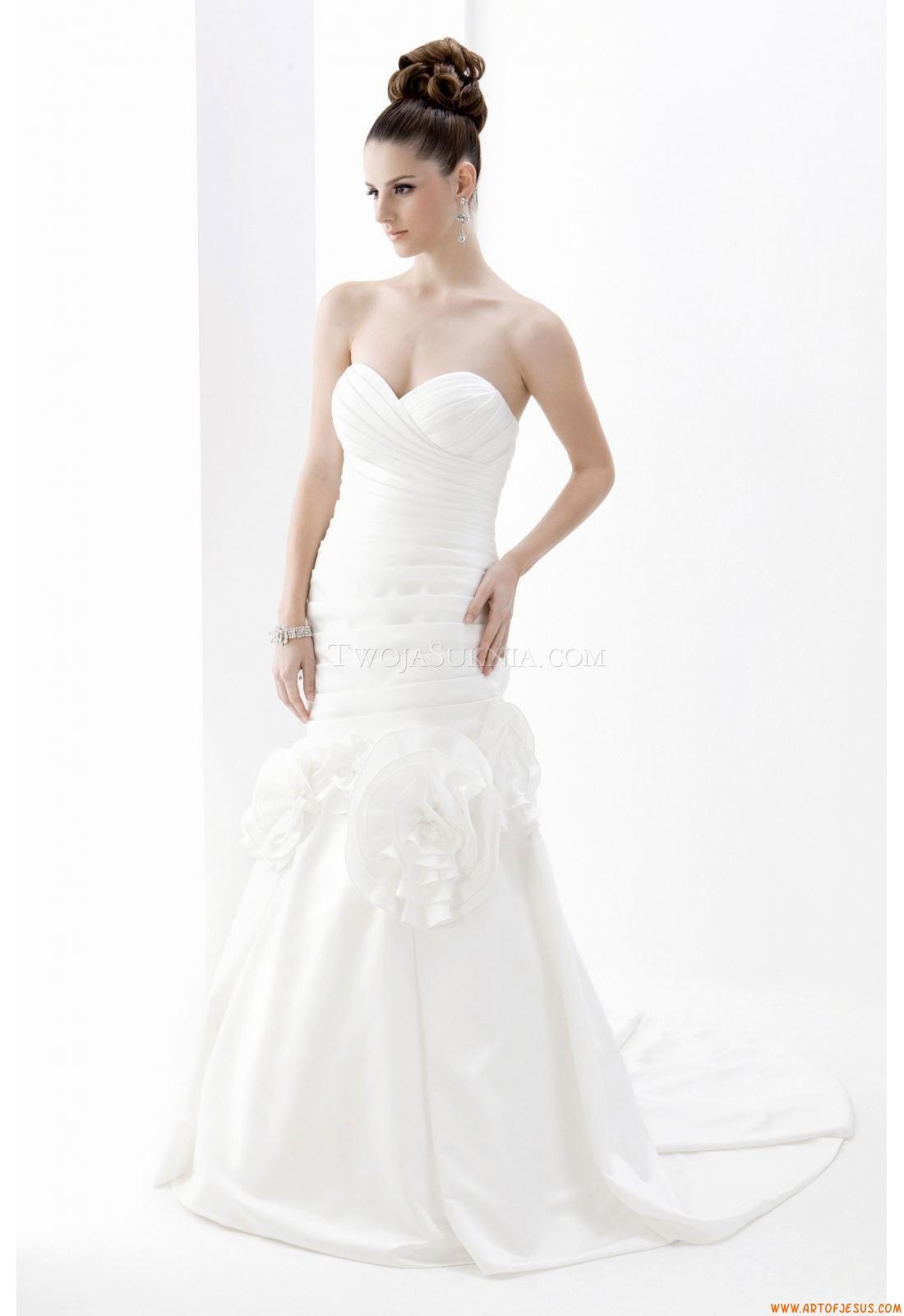 Meerjungfrau Elegante Luxuriöse Brautkleider aus Taft mit Schleppe ...