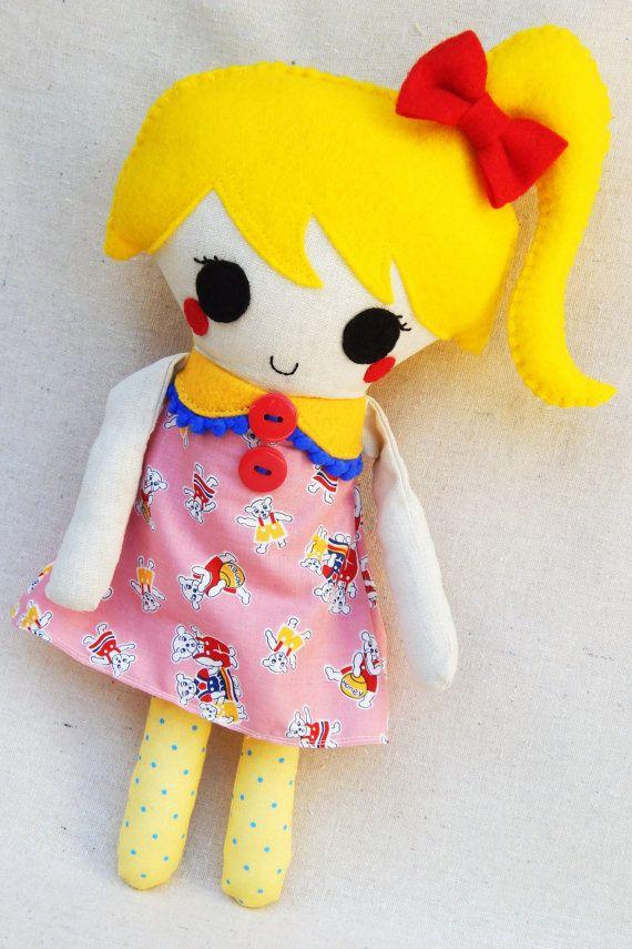 Plush Softie Doll Jollie by MsBittyKnacks on Etsy, $30.00