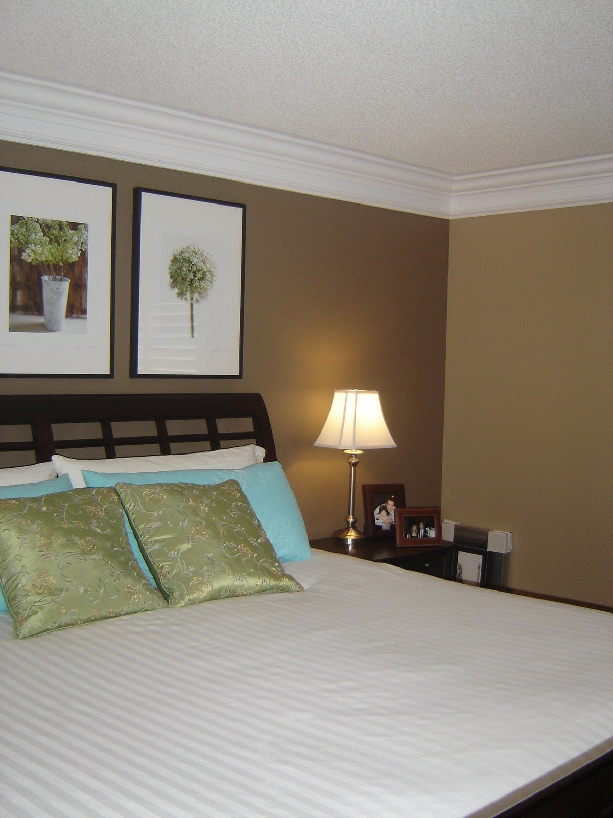 Master bedroom paint accent wall - Master Bedroom With New Wall Color