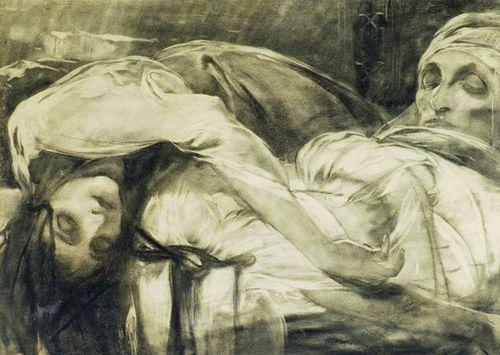 The Athenaeum - La Mort de la fiancée d'Hasanaga (Alfons Mucha - )