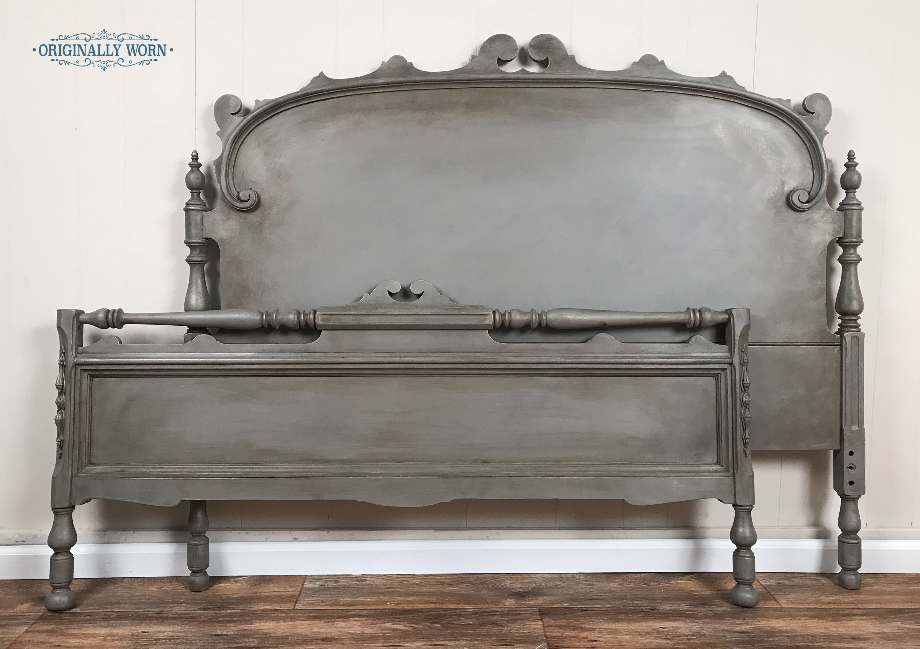 Painted In Annie Sloan Chalk Paint It Is French Linen With A Halo Dry Brush Of A Graphite Fren Painted Furniture Colors Painted Bedroom Furniture Painted Beds