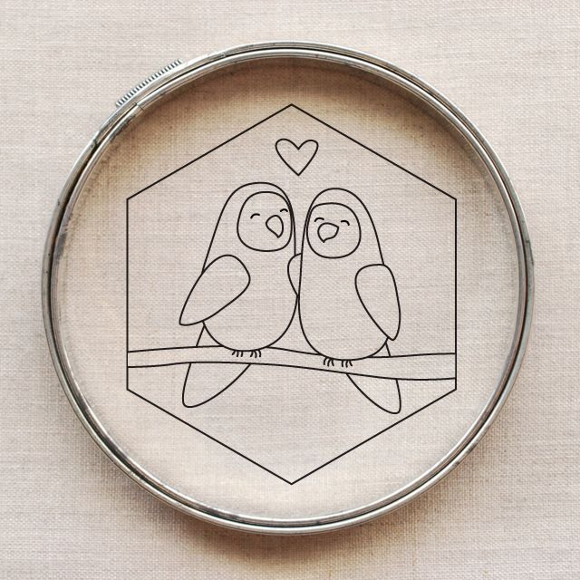 Love Birds Embroidery Pattern Wild Olive Embroidery Sewing