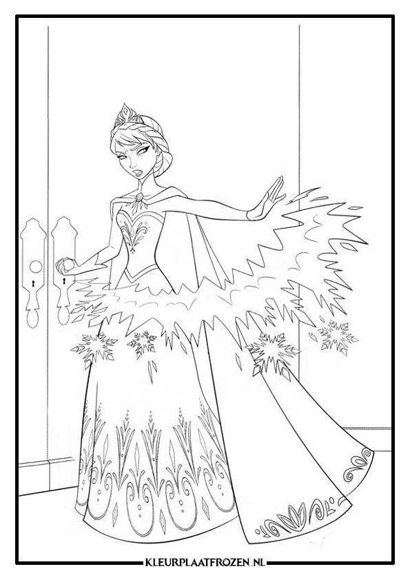 Tante Kleurplaat Verjaardag Frozen Elsa Kleurplaat Kleurplaat Elsa Frozen
