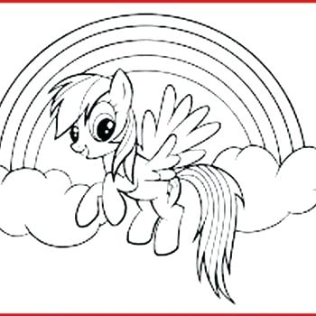 My Little Pony Coloring Pages Rainbow Dash Filly Pixel - Mlp ... | 350x350