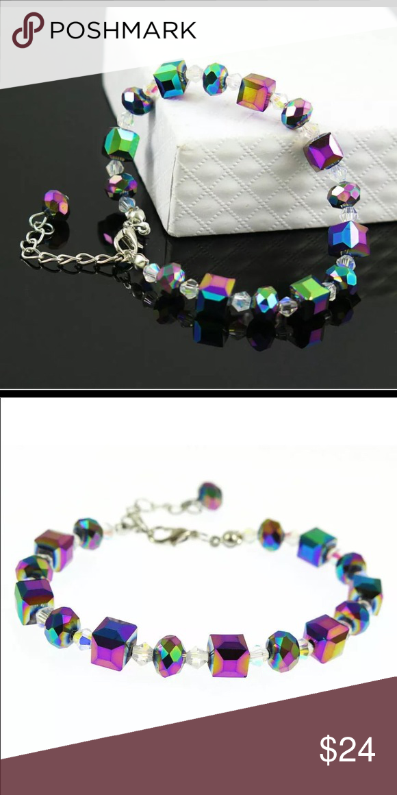 New! Swarovski Mystic Rainbow Topaz Bracelet Brand New