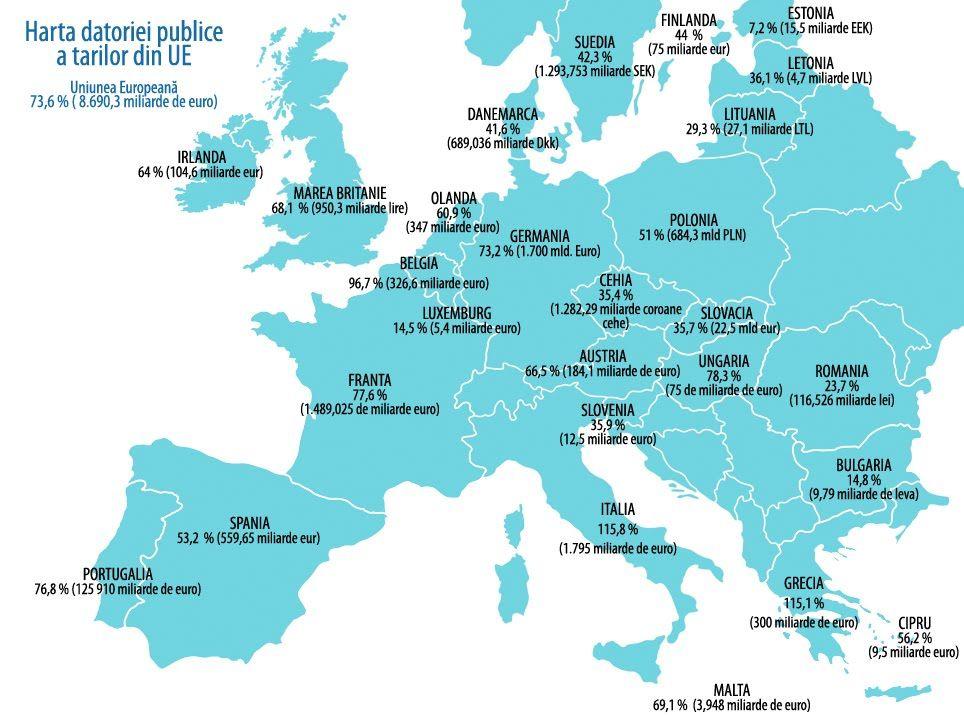 Harta Europei Tari Si Capitale With Images Sis Map Italy