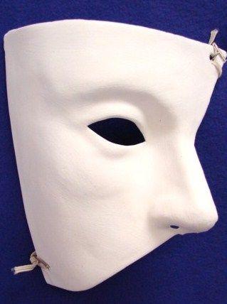 Plain Venetian Masks To Decorate Custom Unpainted Phantom Of The Opera Mask $399  Masquerade Masks Inspiration Design