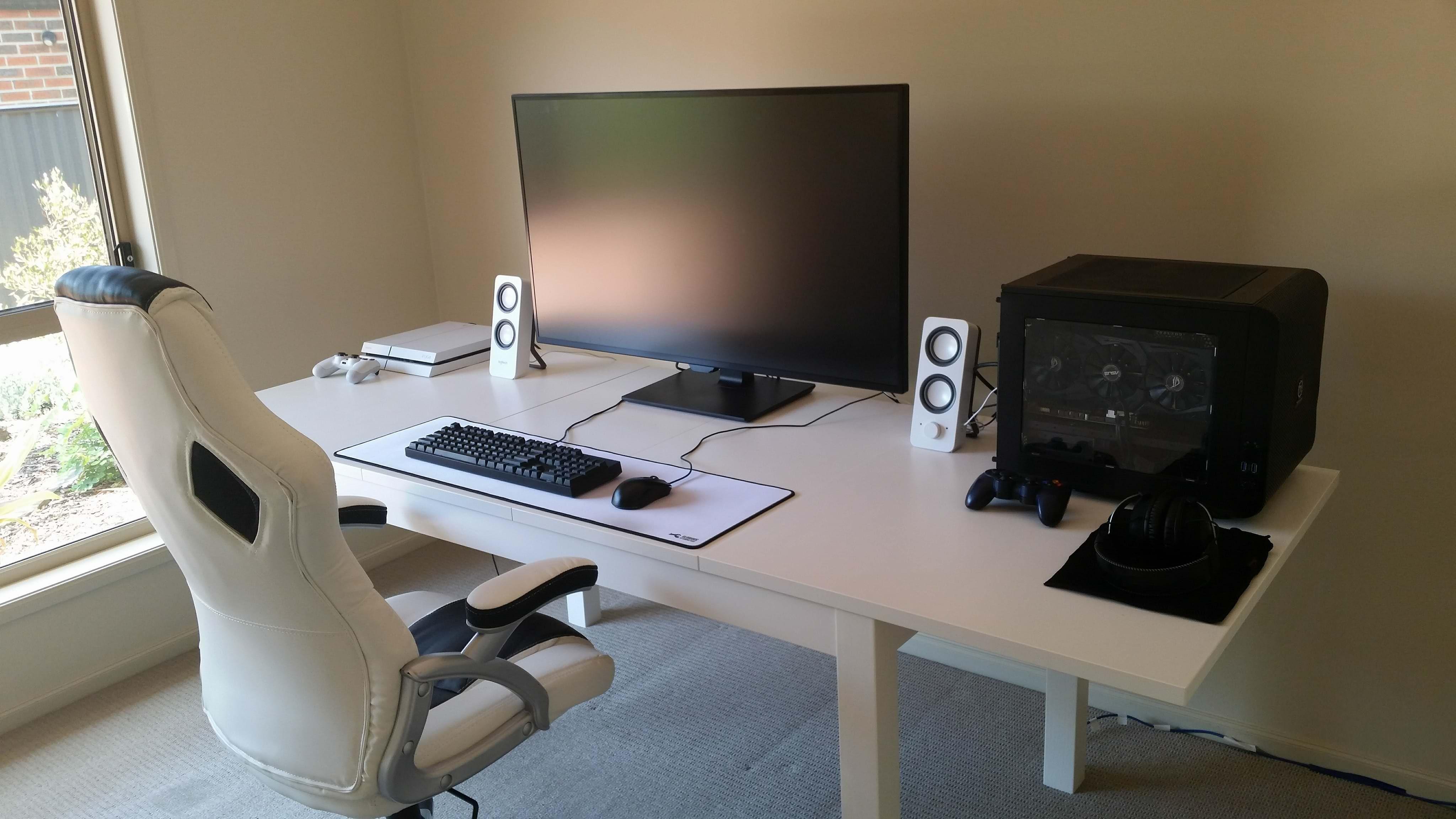 Black White Themed 4k Build Game Room Home Office Setup Game
