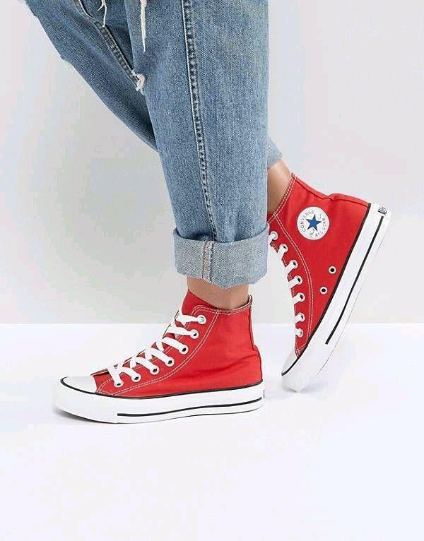 all star converse mujer rojas