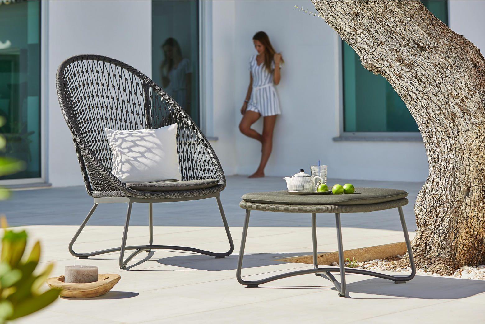 Garten Relaxsessel In Grau Olefinfaser Geflochten Relaxsessel Relaxen Sessel