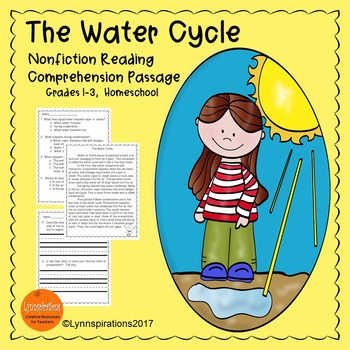 The Water Cycle Reading Comprehension Reading Comprehension