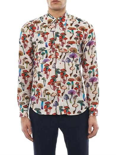 0d41be42 Paul Smith Mushroom-print cotton shirt   Brands in 2019   Menswear ...