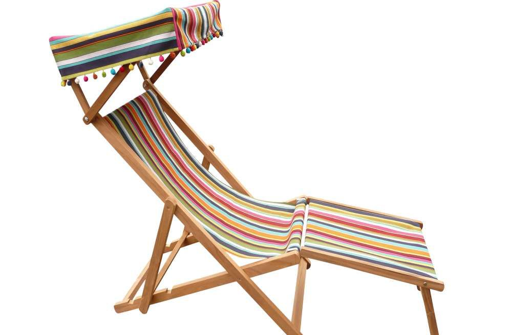 Edwardian Deckchairs With Canopy And Footstool Diy Furniture Couch Outdoor Patio Chairs Outdoor Bench