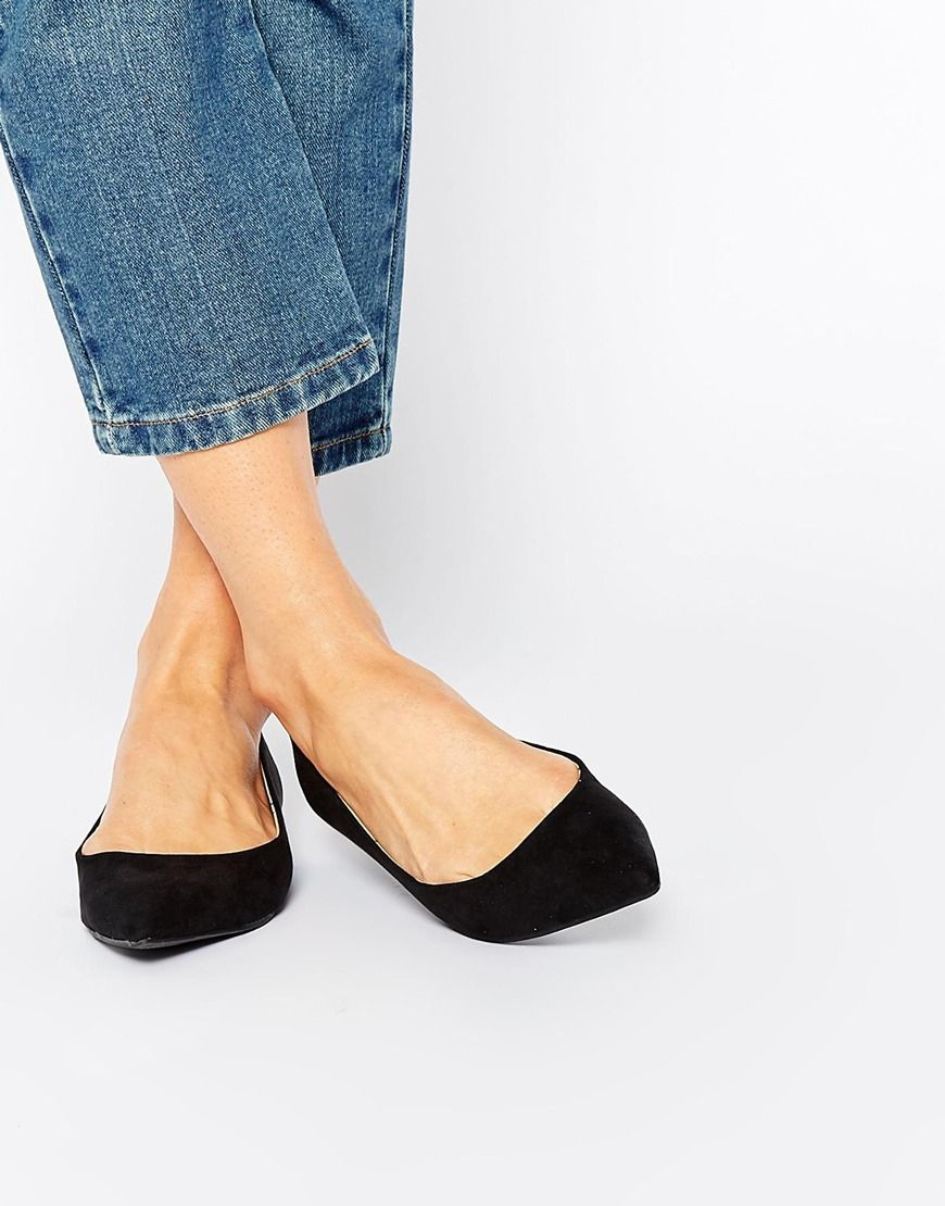 Image 1 of Oasis Pointed Flat Slipper Shoes