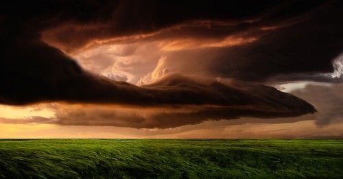Storm clouds over the field by Stefan Eisele