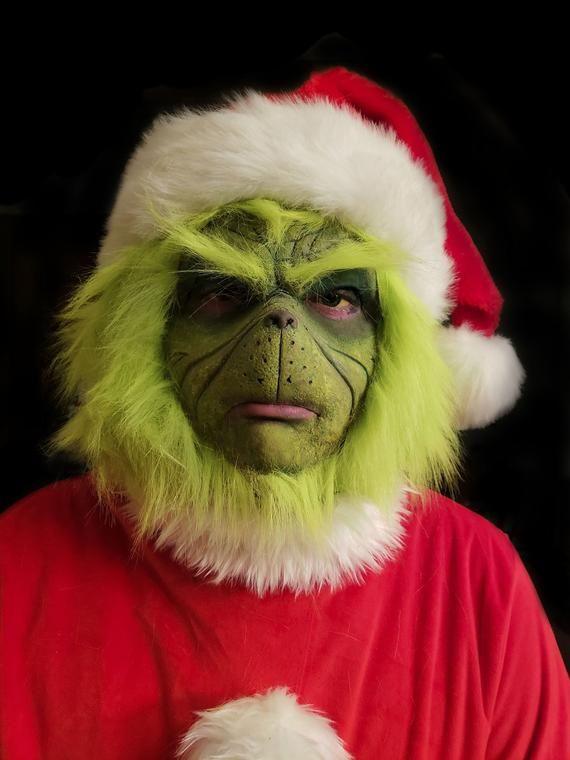 Grinch Prosthetic/ Mask Prosthetic mask, Grinch