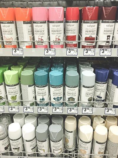 Rust Oleum Vs Valspar Vs Krylon Color Comparison Em Pinterest