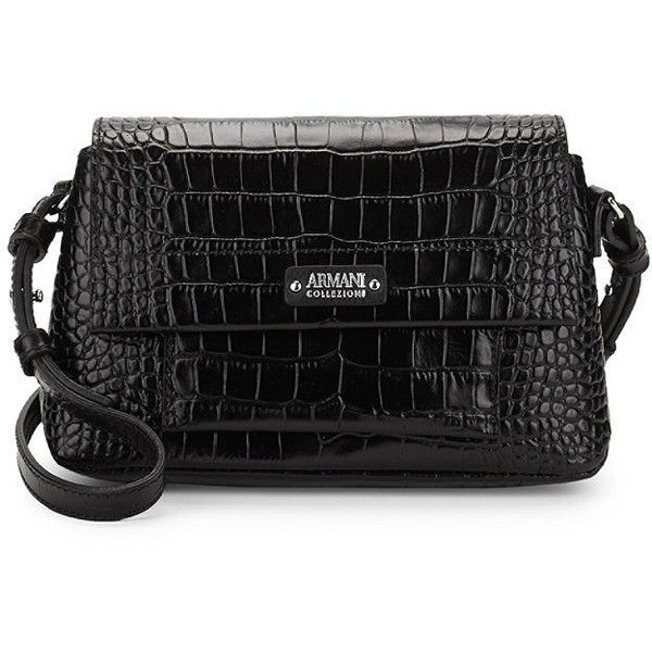 Armani Collezioni Mini Leather Shoulder Bag ( 400) ❤ liked on Polyvore  featuring bags 920d8d2ab8d10