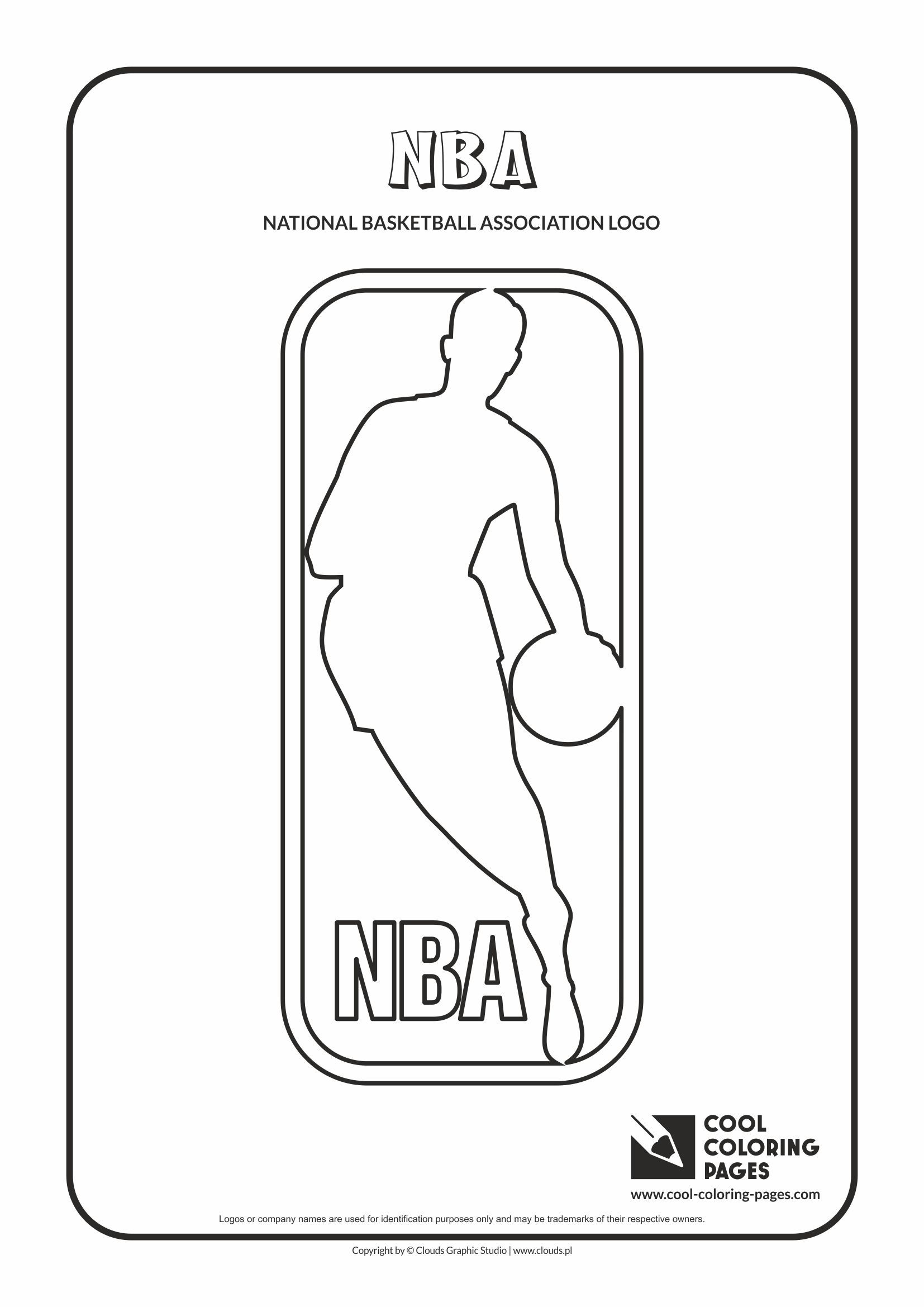 Cool Coloring Pages - NBA Logo coloring pages / National Basketball ...